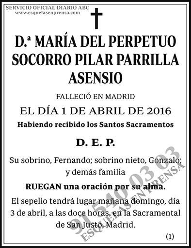 María del Perpetuo Socorro Pilar Parrilla Asensio